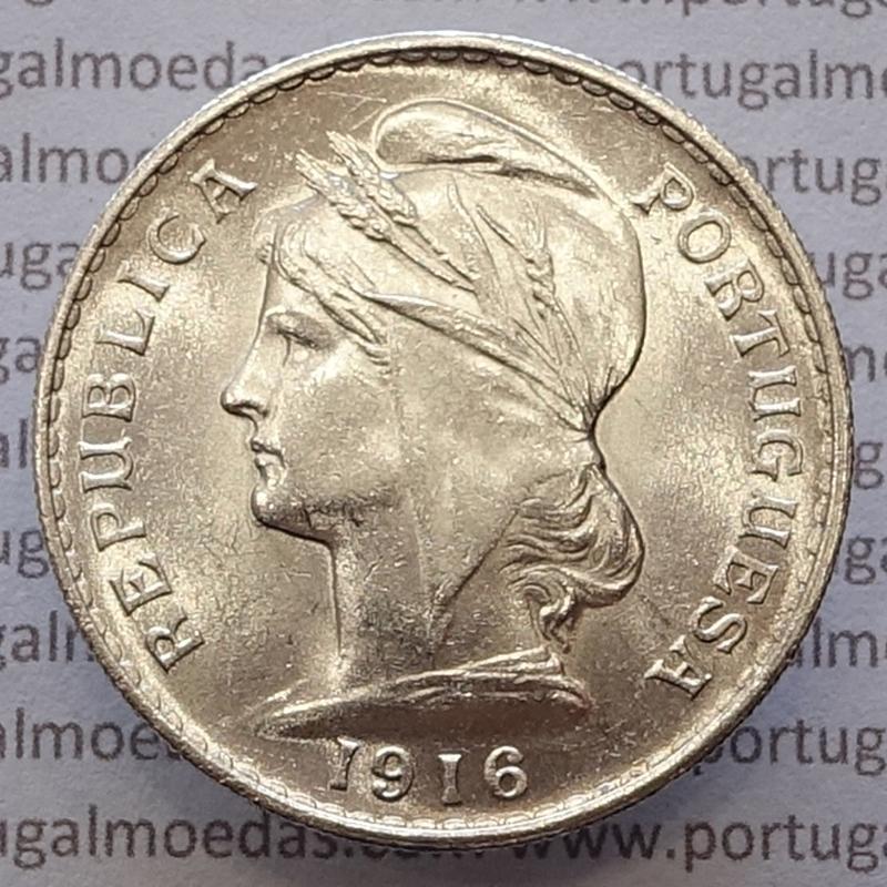 MOEDA DE CINQUENTA CENTAVOS (50 CENTAVOS) PRATA 1916 SOBERBA