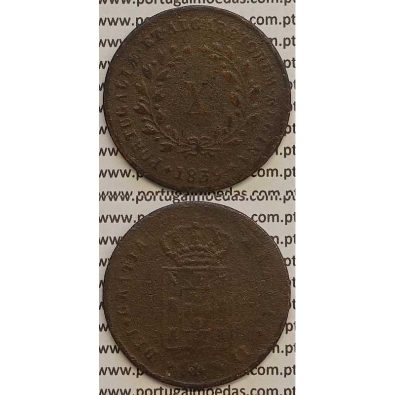 MOEDA X REIS COBRE 1839 (BC) MÓDULO MENOR 32mm - D.MARIA II