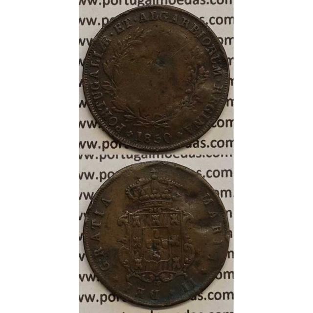 MOEDA V REIS COBRE 1850 (BC) - D.MARIA II