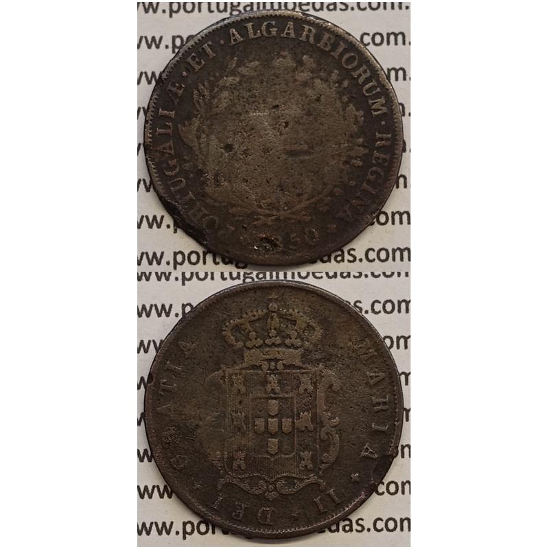 MOEDA V REIS COBRE 1850 (BC-) - D.MARIA II