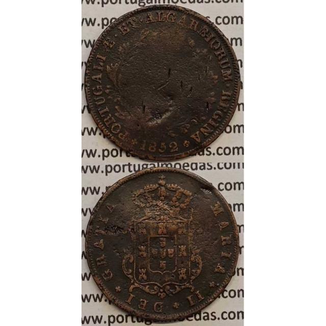 MOEDA V REIS COBRE 1852 (REG) - D.MARIA II