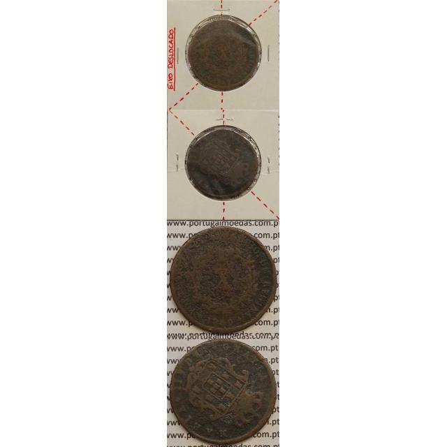 MOEDA X REIS COBRE 1840 (REG) - EIXO DESLOCADO A 125º - D.MARIA II