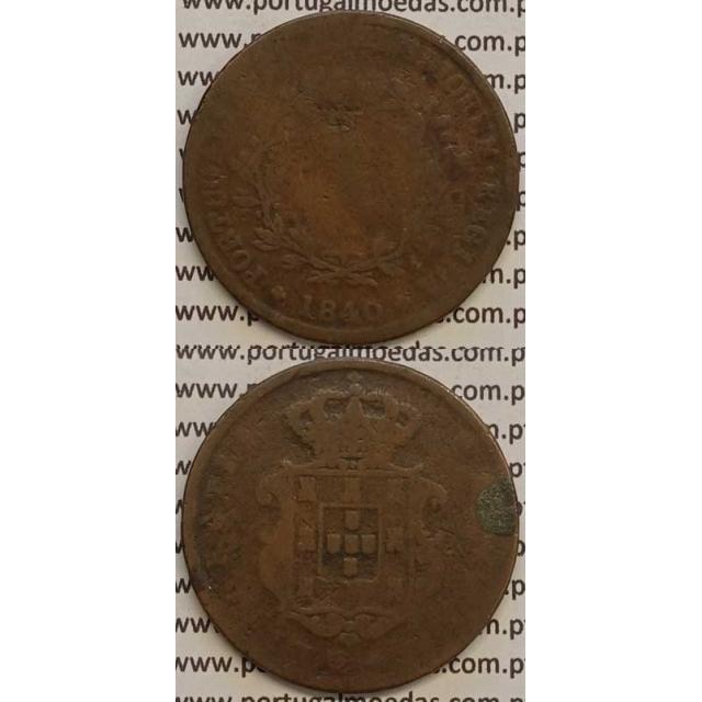 MOEDA X REIS COBRE 1840 (REG) - D.MARIA II