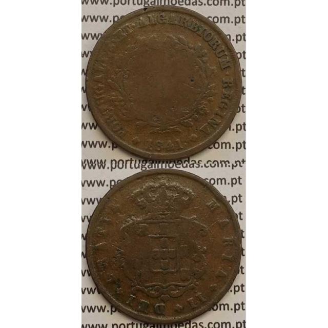 MOEDA X REIS COBRE 1841 (BC-) - D.MARIA II