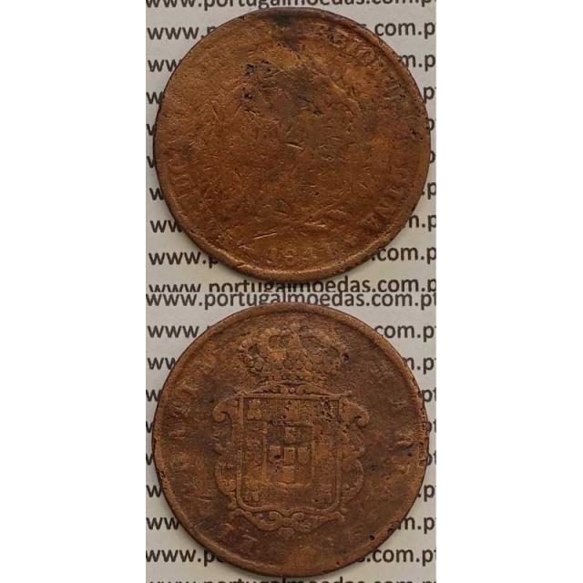 MOEDA X REIS COBRE 1841 (REG) - D.MARIA II