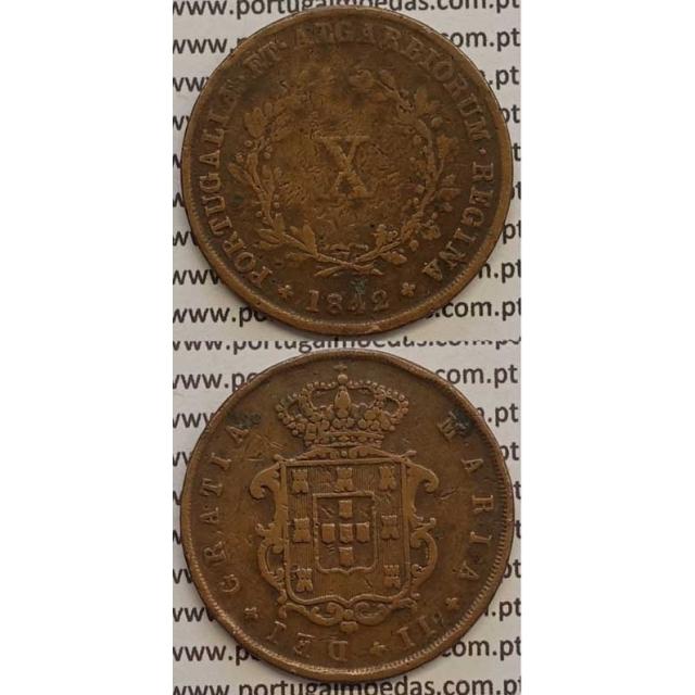 MOEDA X REIS COBRE 1842 (BC-) - D.MARIA II