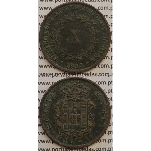 MOEDA X REIS COBRE 1843 (MBC+) - D.MARIA II