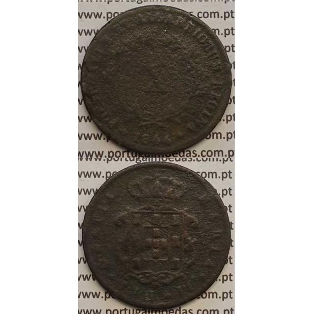 MOEDA X REIS COBRE 1844 (BC-/REG) - D.MARIA II