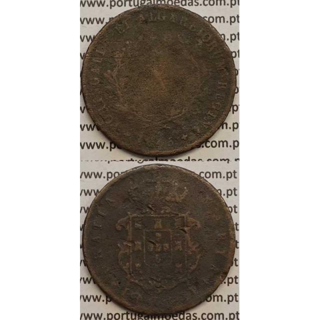 MOEDA X REIS COBRE 1845 (REG) - D.MARIA II