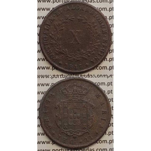 MOEDA X REIS COBRE 1847 (MBC) - D.MARIA II