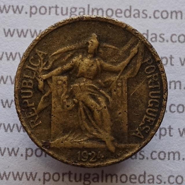 MOEDA DE CINQUENTA CENTAVOS (50 CENTAVOS) BRONZE ALUMÍNIO 1924 BC