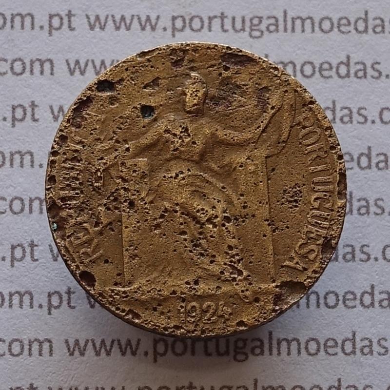 50 Centavos 1924 Bronze-Alumínio, $50 centavos 1924 Alumínio-Bronze Republica Portuguesa, (REG), World Coins Portugal KM 575