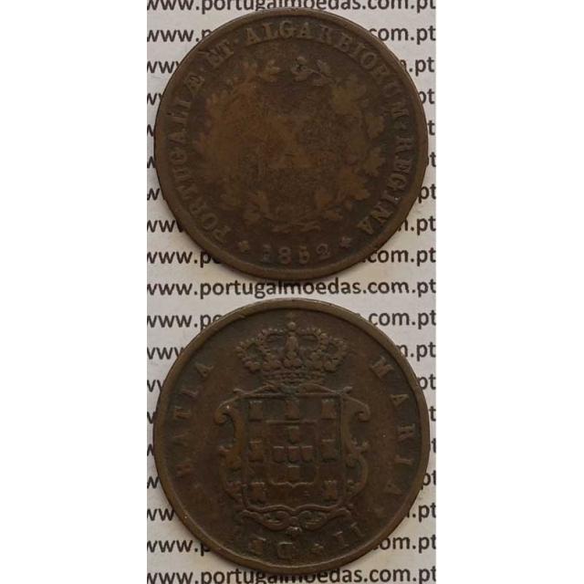 MOEDA X REIS COBRE 1852 (BC-) - D.MARIA II