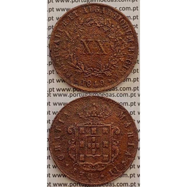 MOEDA XX REIS COBRE 1849 (BC+) - D.MARIA II