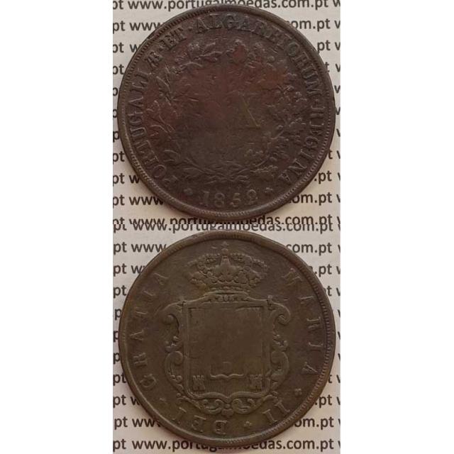 MOEDA XX REIS COBRE 1852 (BC-) - D.MARIA II