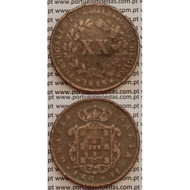 MOEDA XX REIS COBRE 1853 (REG) - D.MARIA II