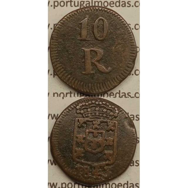 10 REIS COBRE 1845 INDIA - D. MARIA II
