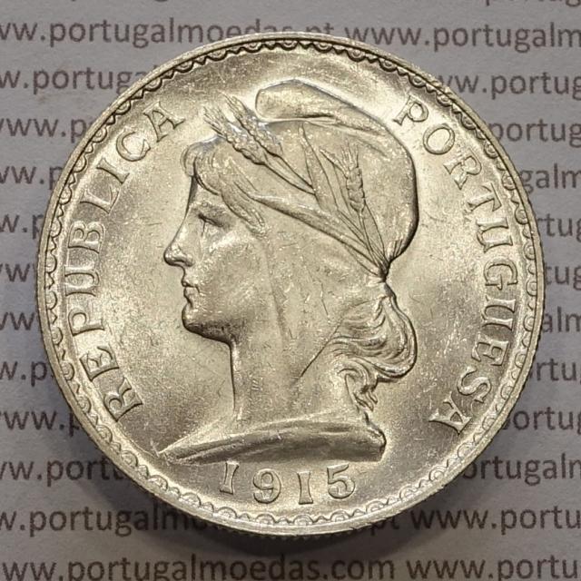 MOEDA DE UM ESCUDO (1$00) PRATA 1915 SOBERBA