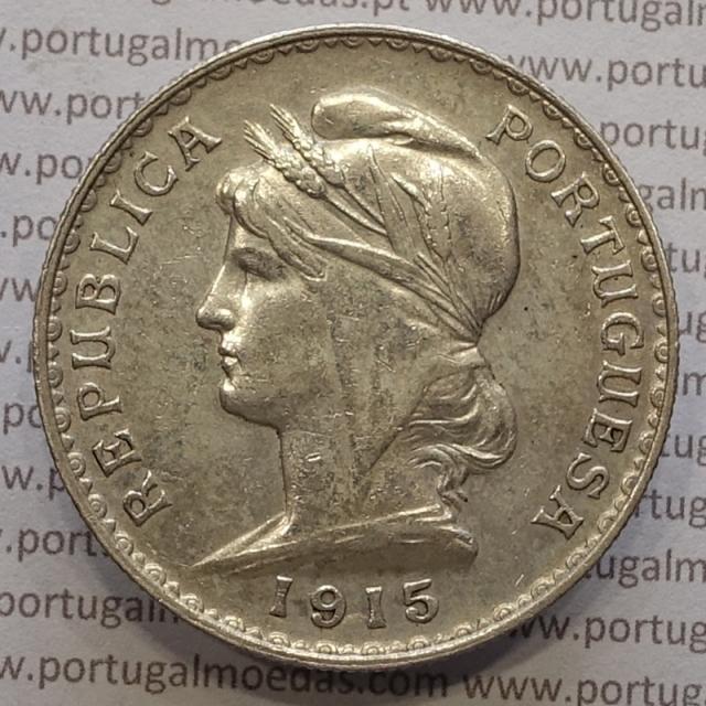 MOEDA DE UM ESCUDO (1$00) PRATA 1915 MBC