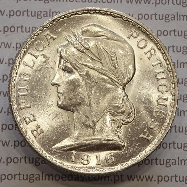 MOEDA DE UM ESCUDO (1$00) PRATA 1916 SOBERBA