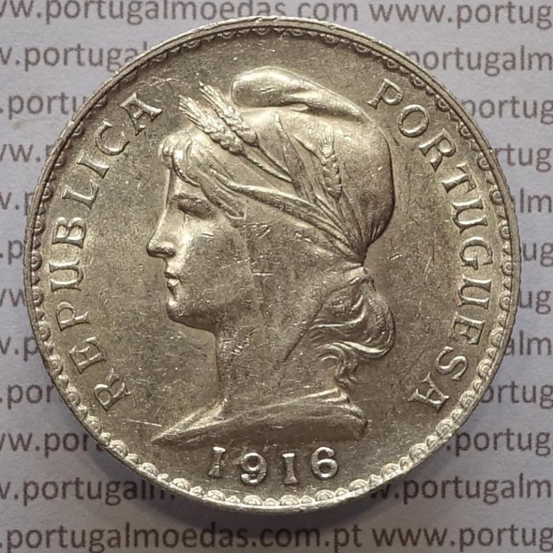 MOEDA DE UM ESCUDO (1$00) PRATA 1916 MBC