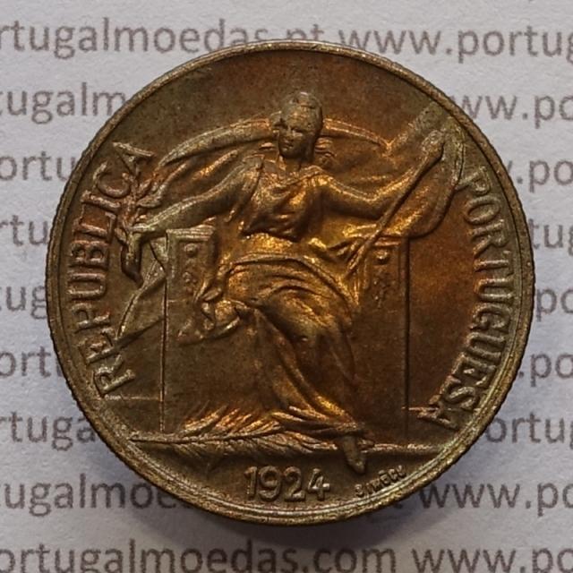 MOEDA DE UM ESCUDO (1$00) BRONZE ALUMÍNIO 1924 SOBERBA