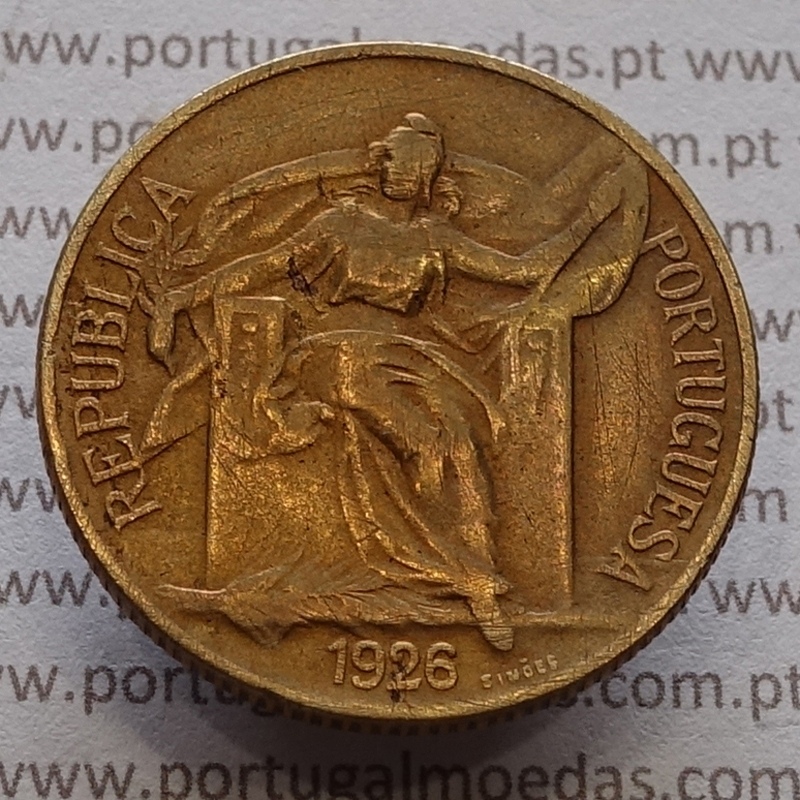 MOEDA DE UM ESCUDO (1$00) BRONZE ALUMÍNIO 1926 MBC