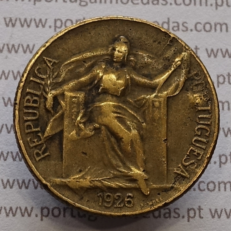 MOEDA DE UM ESCUDO (1$00) BRONZE ALUMÍNIO 1926 BC