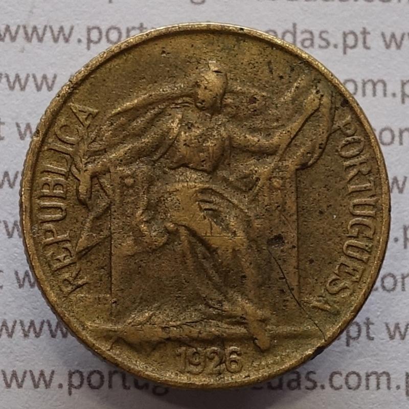 1 Escudo 1926 Bronze-Alumínio, (1$00 escudo 1926), BC, World Coins Portugal KM 576
