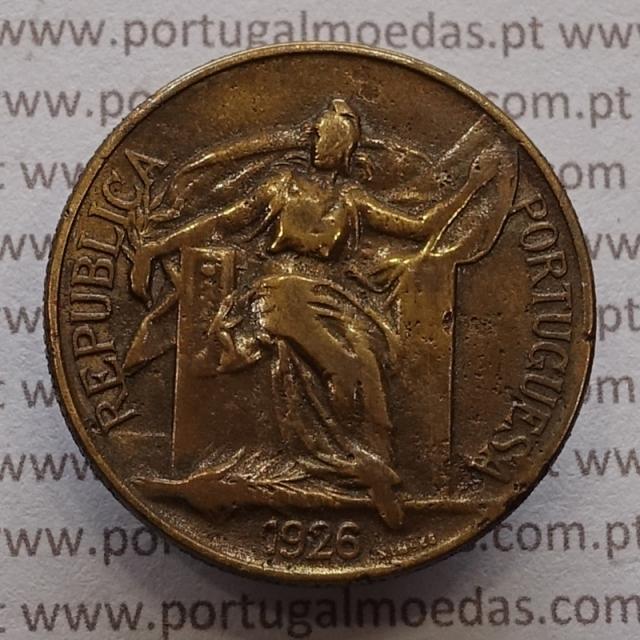 MOEDA DE UM ESCUDO (1$00) BRONZE ALUMÍNIO 1926 BC+
