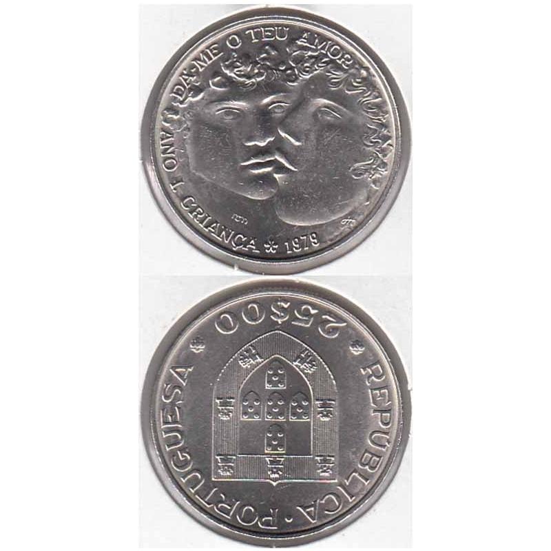 25 Escudos 1979 Ano Internacional da Criança (moeda 25$00 Ano Internacional da Criança)