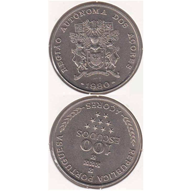 "100$00 CUPRO-NÍQUEL 1980 ""AÇORES"" (BELA/SOB)"