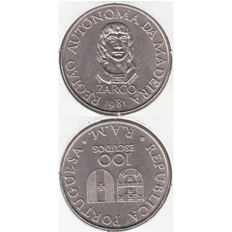 "100$00 CUPRO-NÍQUEL 1981 ""MADEIRA"" (BELA/SOB)"