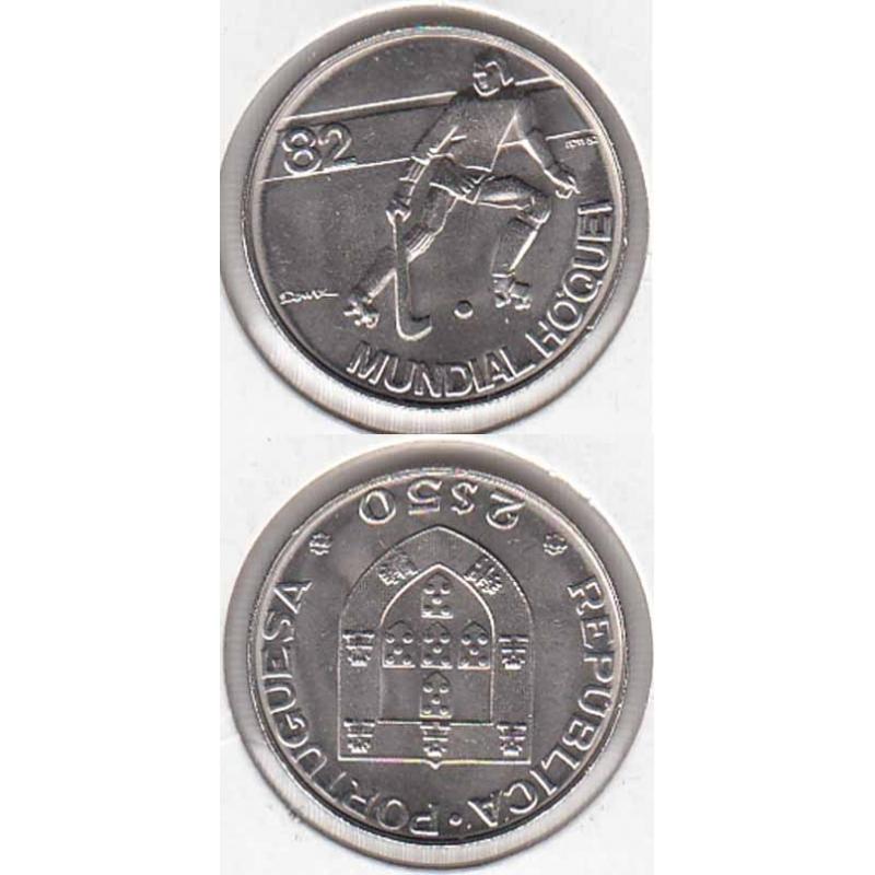 2$50 1982 Mundial Hóquei 82 (moeda 2$50  Mundial Hóquei 82)