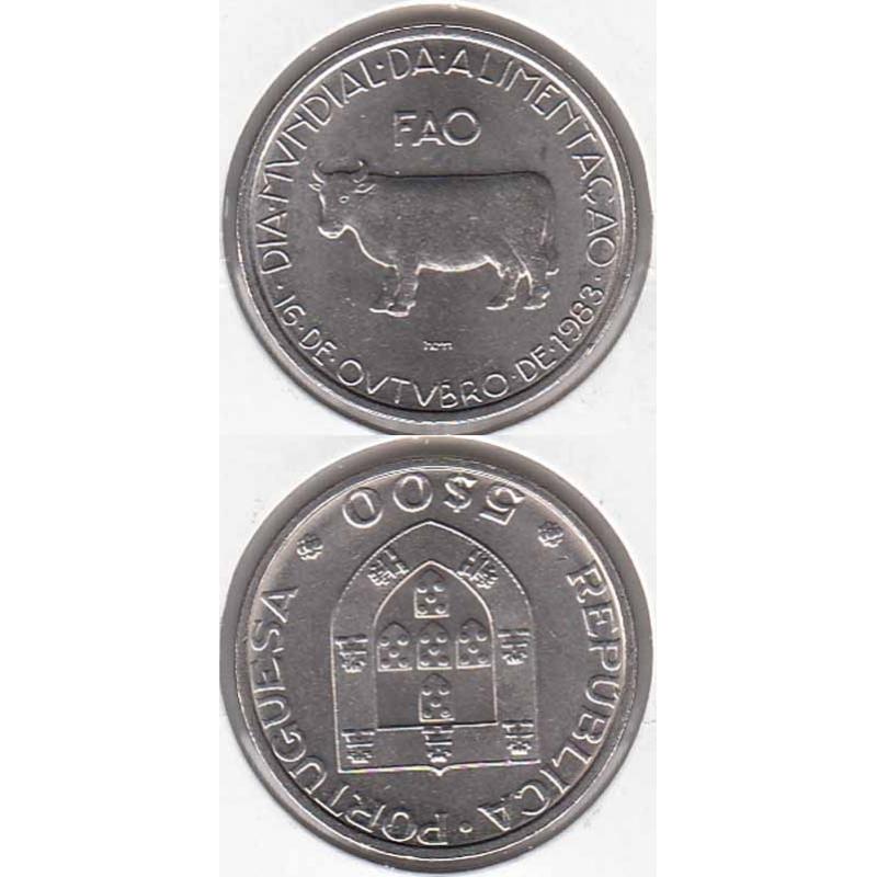5 Escudos 1983 Fao cupro-níquel (moeda 5$00 1983 Fao)