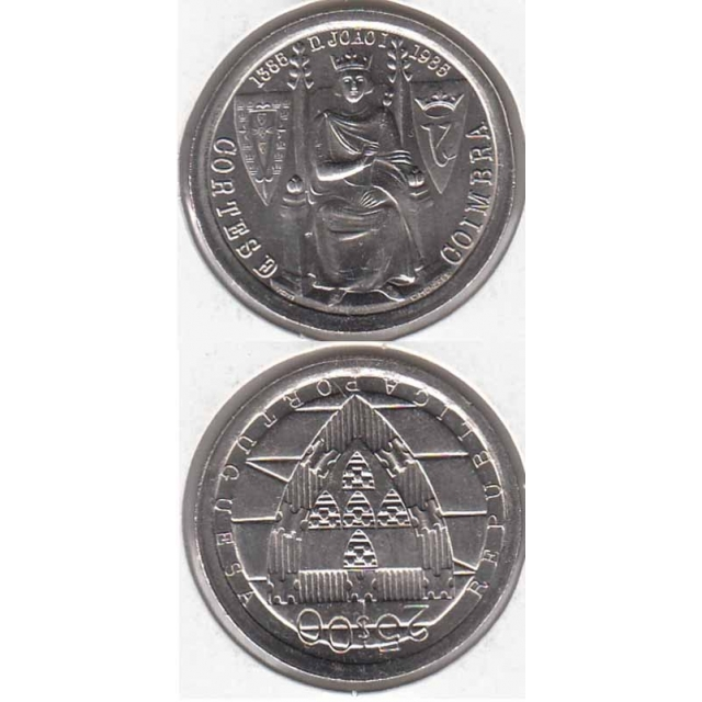 "25$00 CUPRO-NÍQUEL 1985 ""CORTES COIMBRA"" (BELA/SOB) (1985"
