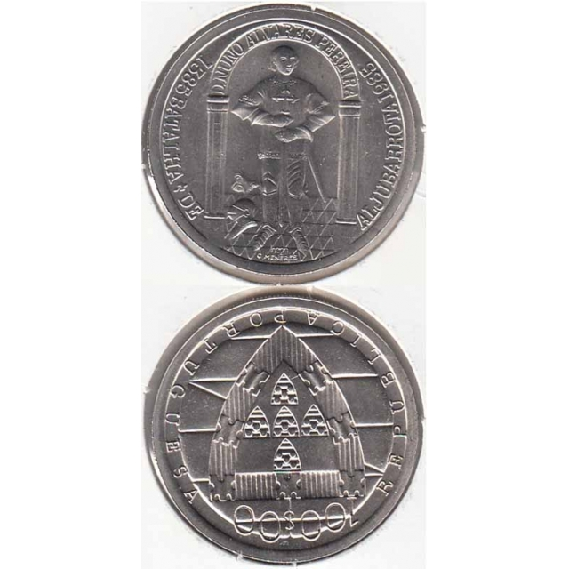 "100$00 CUPRO-NÍQUEL 1985 ""BATALHA DE ALJUBARROTA"" (BELA/SOB)"