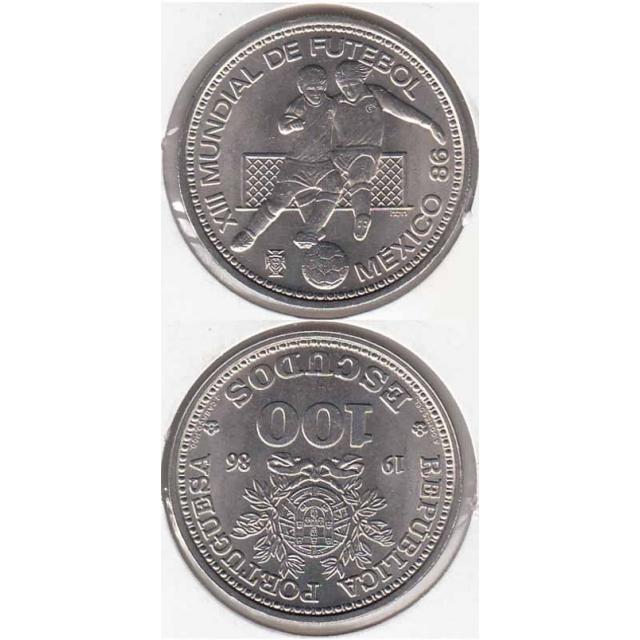 "100$00 CUPRO-NÍQUEL 1986 ""MEXICO 86"" (BELA/SOB)"
