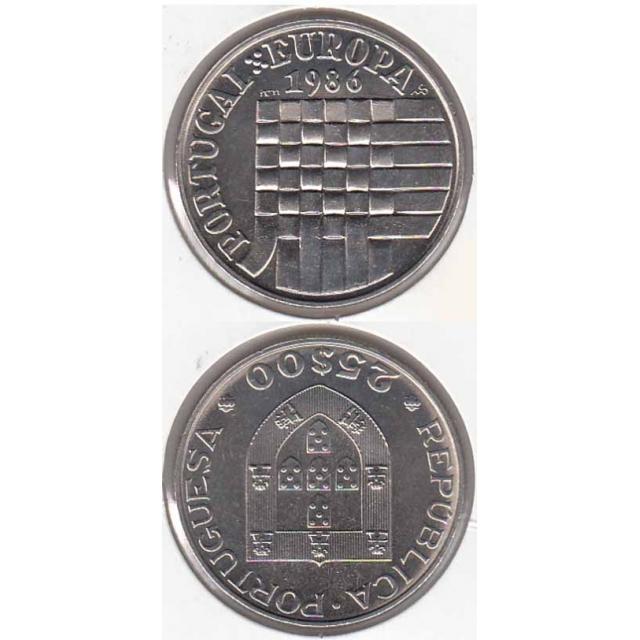 "25$00 CUPRO-NÍQUEL 1986 ""EUROPA CEE"" (BELA/SOB)"