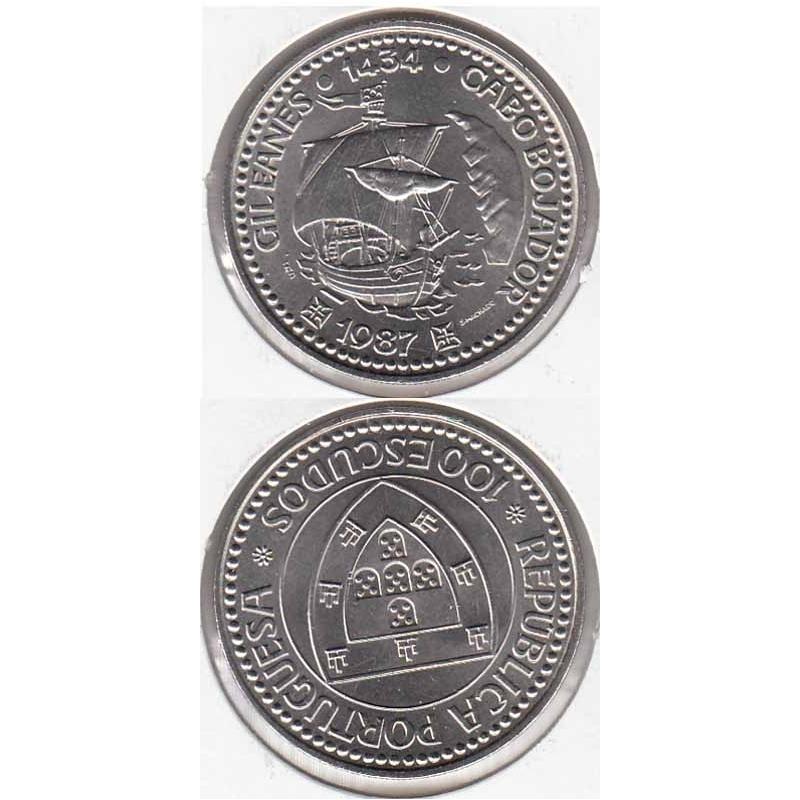 "100$00 CUPRO-NÍQUEL 1987 ""GIL EANES"" (BELA/SOB)"