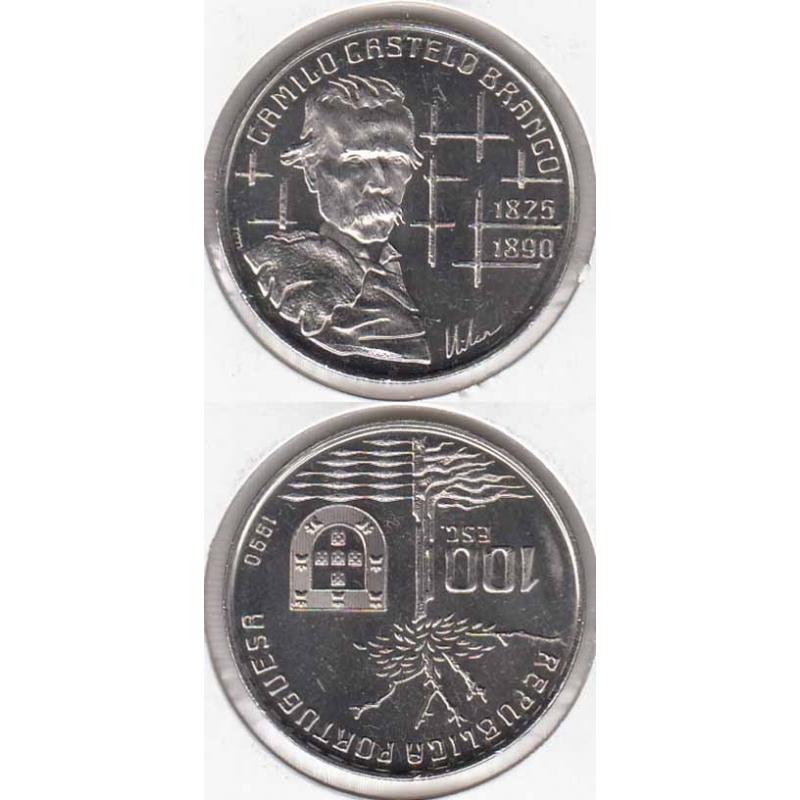 "100$00 CUPRO-NÍQUEL 1990 ""CAMILO CASTELO BRANCO"""