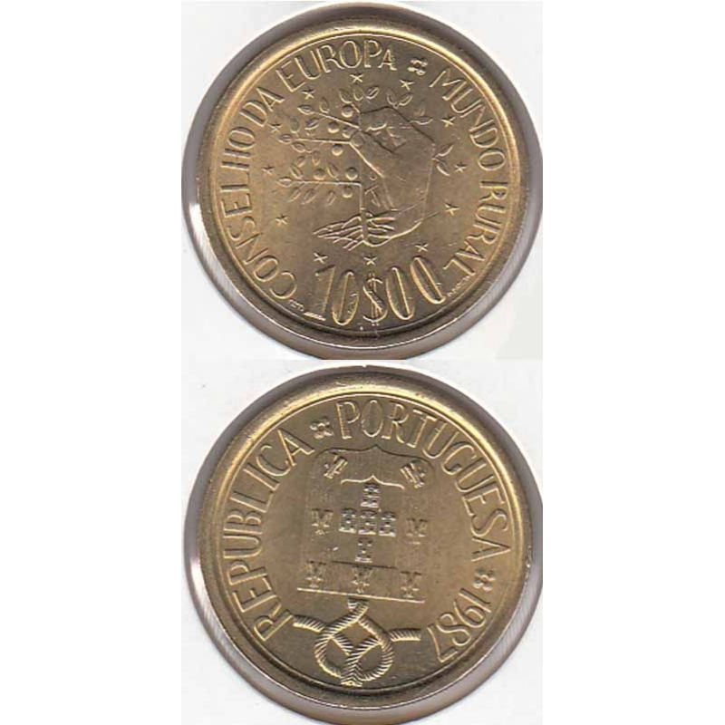 10 Escudos 1987 Mundo Rural ( moeda 10$00 Mundo Rural)