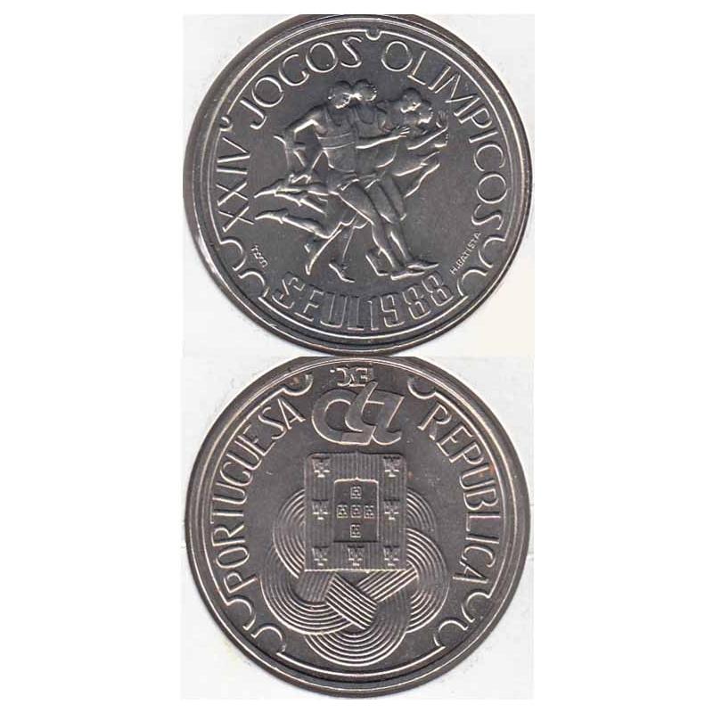 250 Escudos 1988 Jogos Olímpicos Seul cupro-níquel (moeda 250$00 jogos Olímpicos de Seul)