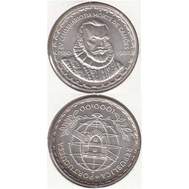 1000 Escudos prata 1983 Luis de Camões (moeda 1000$00 Luis de Camões)
