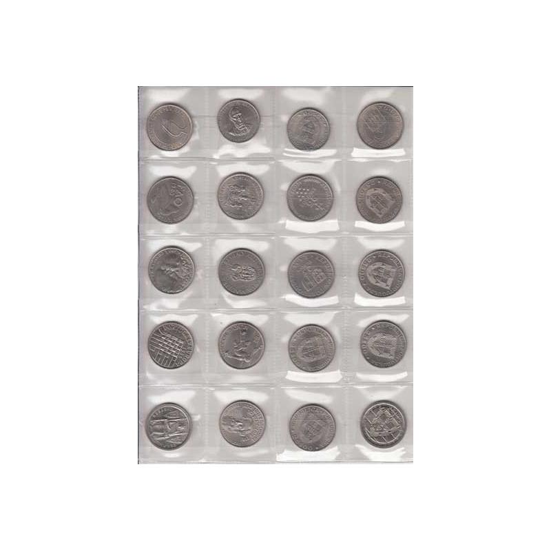 COLEÇÃO DE 10x MOEDAS DE 25$00