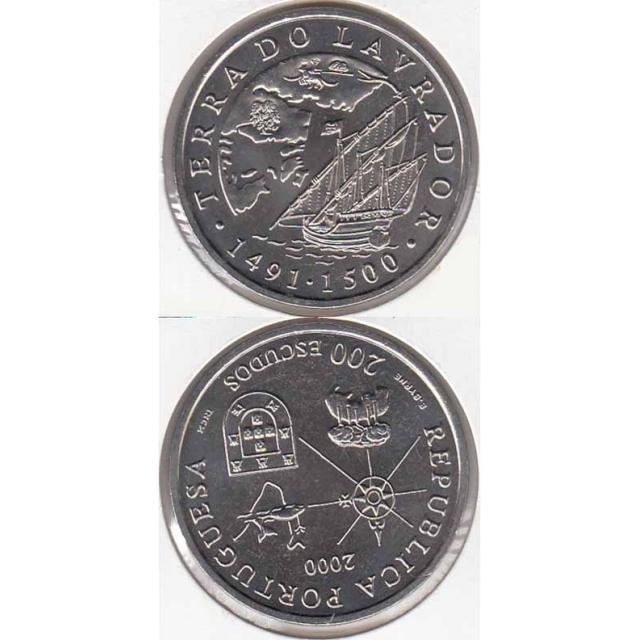 """200$00 CUPRO-NÍQUEL 2000 """"TERRA DO LAVRADOR"""" (BELA/SOB)"""