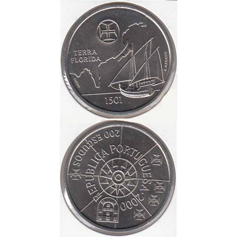 200 Escudos 2000 Terra Florida cupro-níquel (moeda 200$00 Terra Florida)