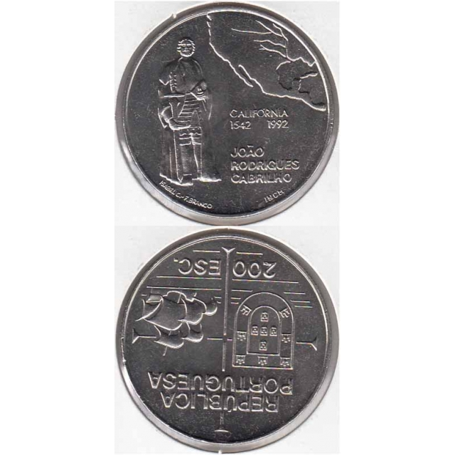 "200$00 CUPRO-NÍQUEL 1991 ""CALIFÓRNIA"" (BELA/SOB)"