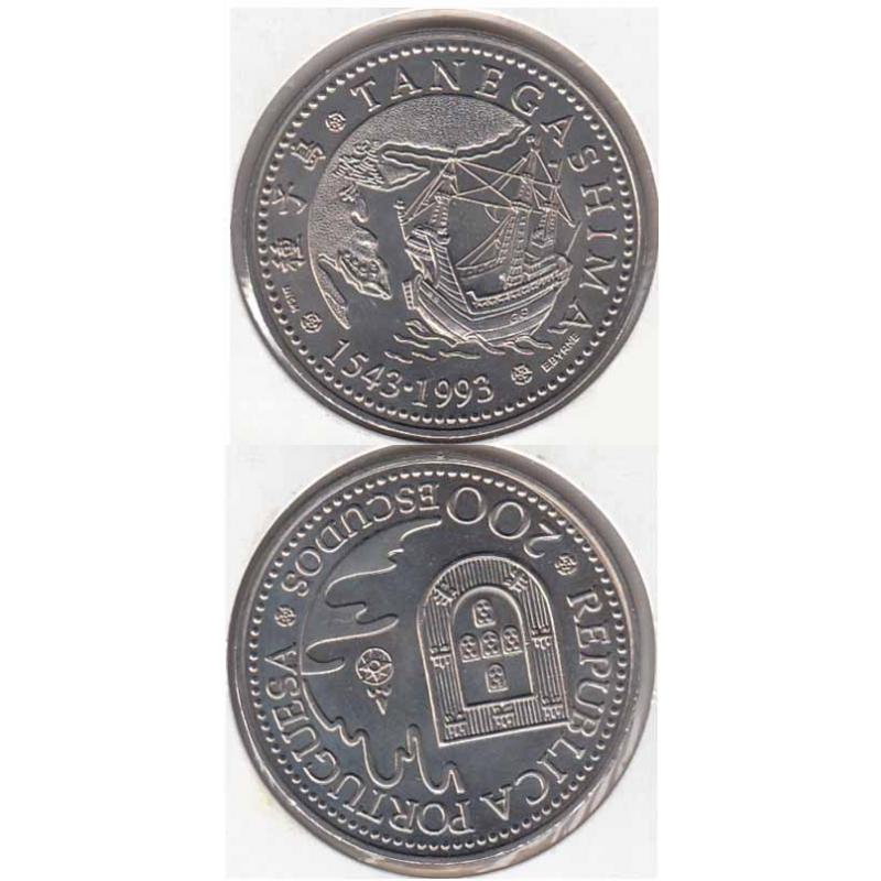200 Escudos Cupro-níquel 1993 Tanegashima (moeda de 200$00 Tanegashima)