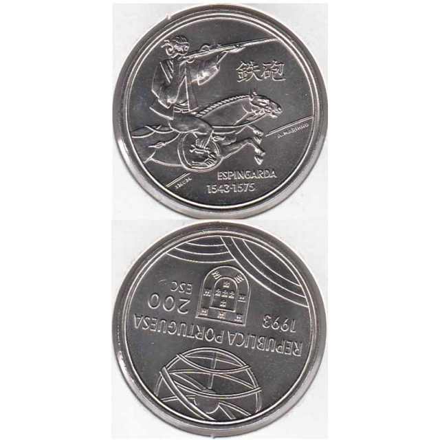 "200$00 CUPRO-NÍQUEL 1993 ""ESPINGARDA"" (BELA/SOB)"